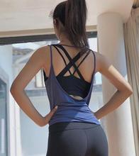 Женская спортивная блузка Йога Фитнес Топ жилет ударопрочный спортивный бюстгальтер футболка Бег Йога жилет нижнее белье спортивный жилет