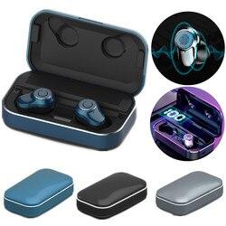 TWS Bluetooth 5.0 słuchawki Mini bezprzewodowe słuchawki stereo hd kierowca samochodu słuchawki douszne z ładowarką Power Bank|Słuchawki douszne i nauszne Bluetooth|   -