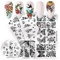 NICOLE DIARY штамповочные пластины для ногтей, леопардовые бабочки, тигр, шаблоны штампов для дизайна ногтей, трафареты, инструмент для печати цв...