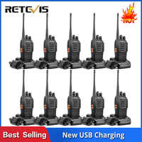 10 pièces Portable bidirectionnel Radio talkie-walkie chape H777 hôtel/Restaurant Radio 3W UHF lampe de poche USB charge talkie-walkie ensemble