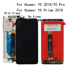 5.45For Huawei Y5 2018 Y5 Pro LCD Display Touch Screen Digitizer For Huawei Y5 Prime 2018 LCD With Frame DUA L02 L22 LX2 Screen цена