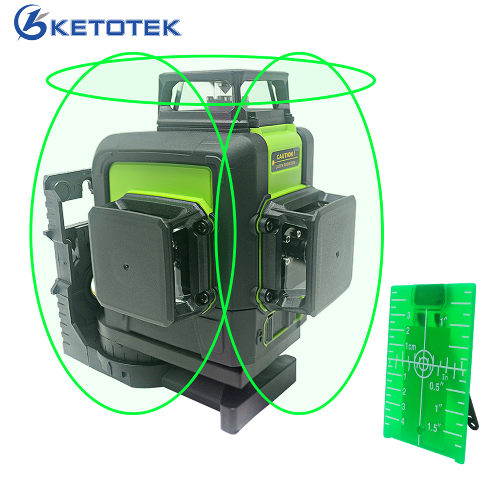 Green Laser Level Self-Leveling 360 Horizontal Vertical Laser Beam 2/5/8/12 Lines Laser Level 3D 360