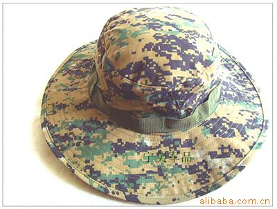 Outdoor Army Fans Yuan Bian Mao Camouflage Boonie Hat Special Forces College Style Fisherman Fishing Field Operations Mountain C