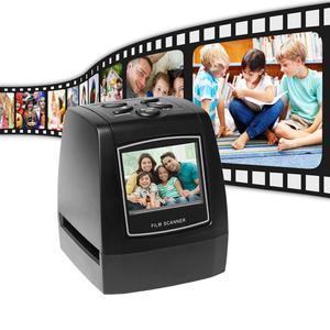2.4in TFT LCD High-Resolution 5MP/10MP Film Scanner Convert 35mm/135mm film Monochrome Slide Film Negative into Digital Picture