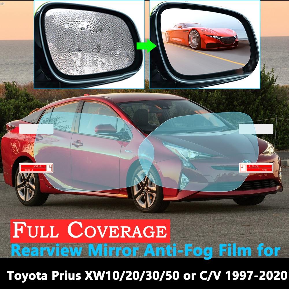 Full Cover Protective Film For Toyota Prius 10 20 30 50 C V Aqua 1997~2020 Car Rearview Mirror Rainproof Anti-Fog Films 2019