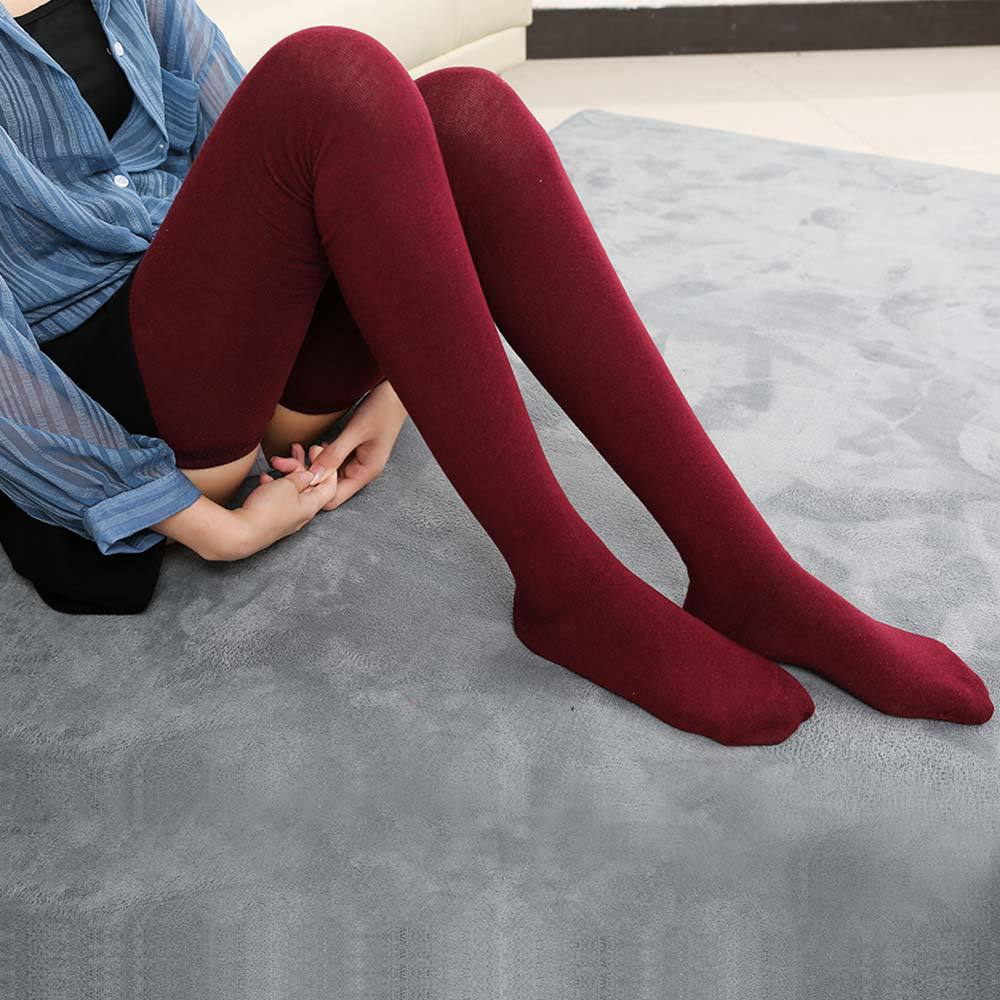 Fashion Women Autumn Winter 80cm Super Long Cotton Socks Female Over Knee Warm Thigh High Sock