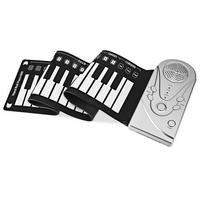 Portable 49 Keys Flexible Roll Up Electronic 3 AA (Batteries are not included) Piano 6 Soft Silicone Keyboard