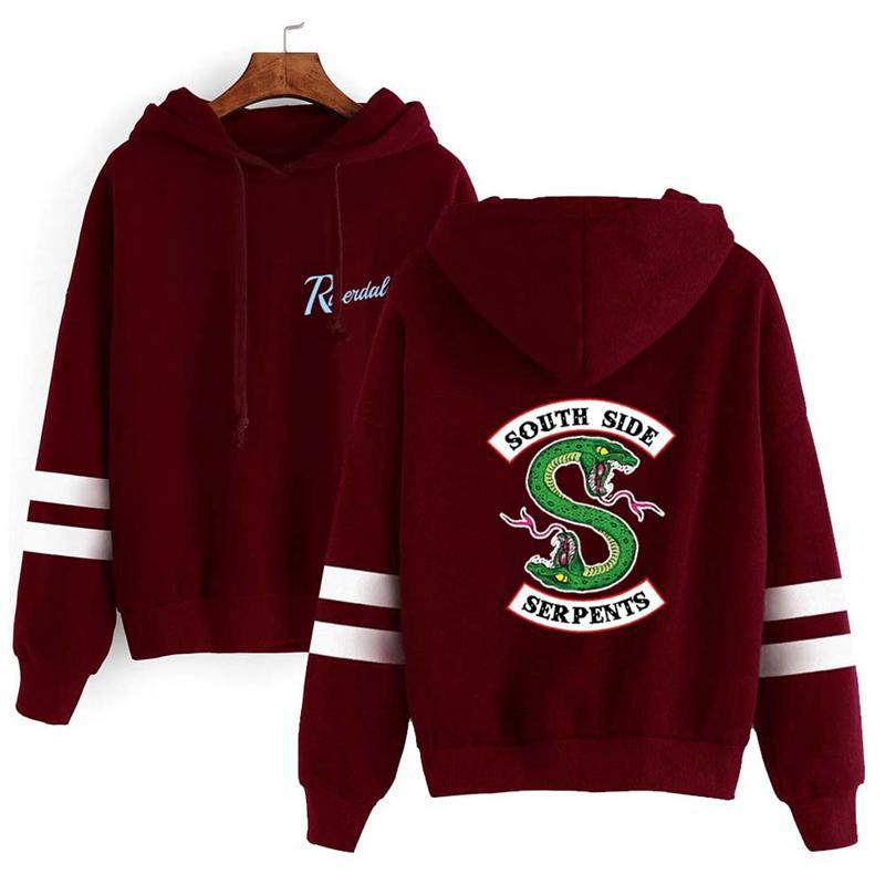 Riverdale Southside Serpents Harajuku Sweatshirt Hoodie Women South Side Serpents Snake Print Hoody Female Cosplay Costumes