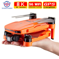 Sharefunbay icat7 zangão 4k 8k gps 5g wifi dois eixos cardan câmera brushless motor suporta tf cartão de vôo para 25 min vs sg906 pro