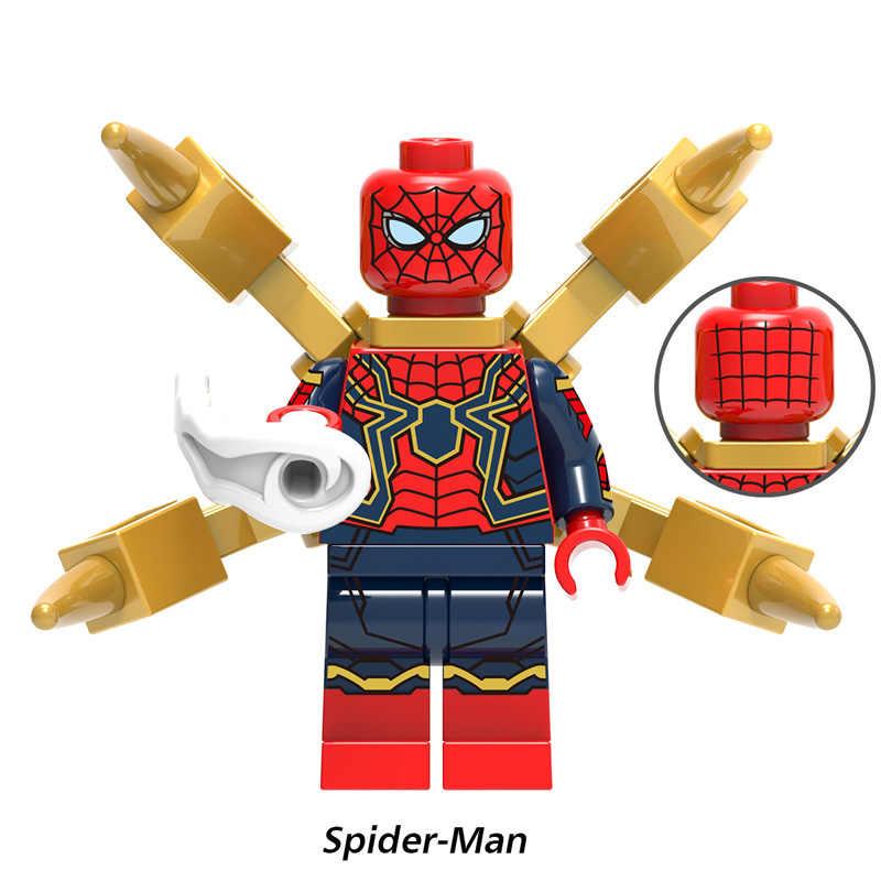 Marvel vingadores 4 super heróis legoed endgame homem de ferro capitão américa spiderman thanos hulk blocos de construção figuras crianças brinquedos