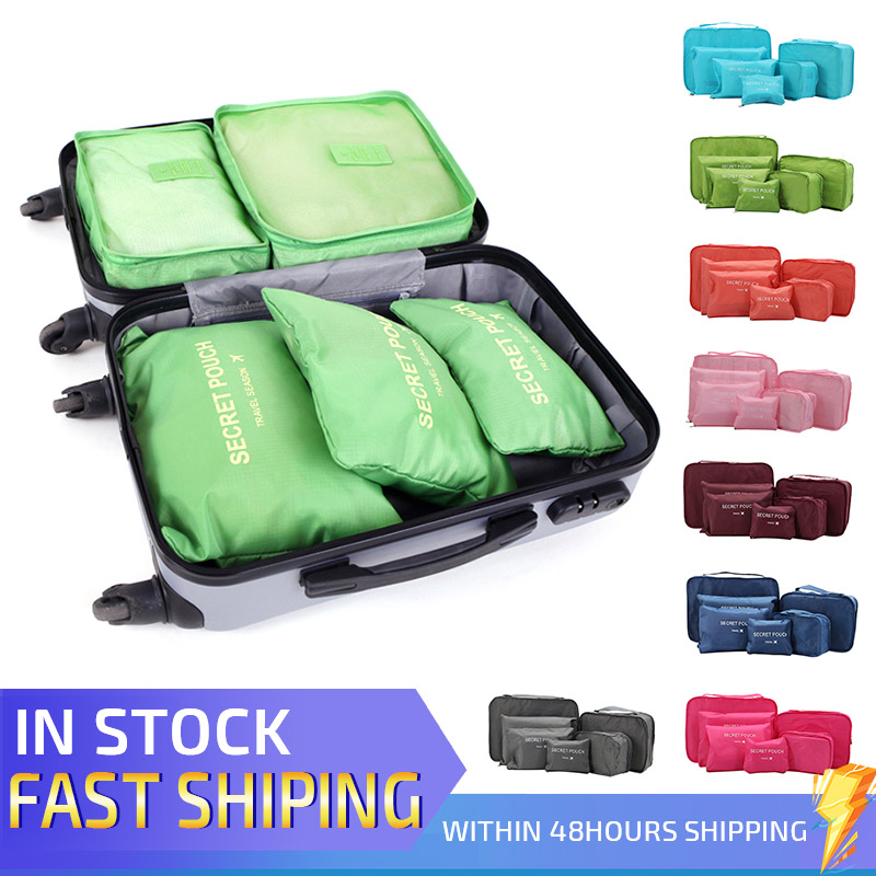 6x Outdoor Waterproof Travel Drawstring Storage Laundry Pouches Stuff Sacks