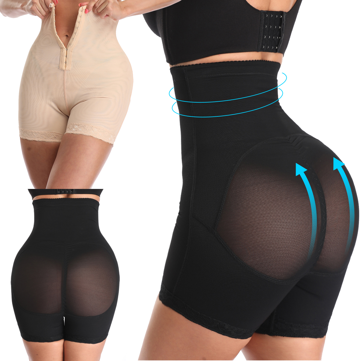 High Waist Compression Girdle Bodysuit BodyShaping Panties Women Control Panties Body Shaper Slimming Tummy Butt Lifter Hip