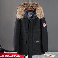 Winter Jacket Mens Windbreaker Anorak Quality White Duck Down Jacket Fur Hood Removable Parka Male Coat Warm Thick Overcoat