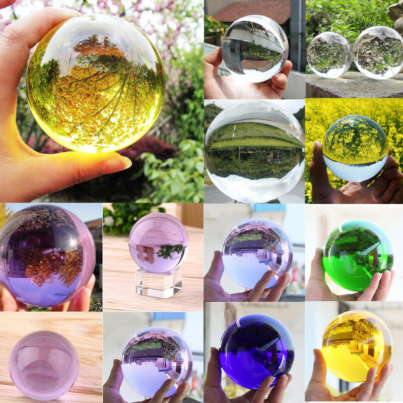 30/40/50mm Photography Glass Crystal Ball Sphere Photography Photo Shooting Props Lens Clear Round Artificial Ball Decor Gift