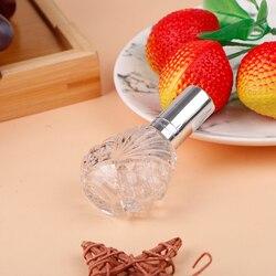 15 ML Portable Travel Refillable Cosmetics Empty Bottle Aluminum Spray Head Mini Clear Glass Spray Perfume Bottle