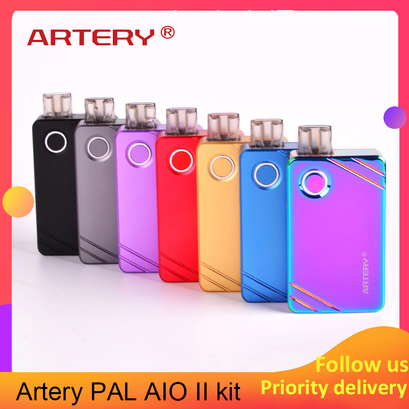 Vape Kit Slagader Pal Aio 2 Kit 1000 Mah Met 3 Ml Tank Pod Pak 1.0ohm/Mesh 0.6ohm Coil mtl Upgrade Slagader Pal Kit Vs Orion Dna