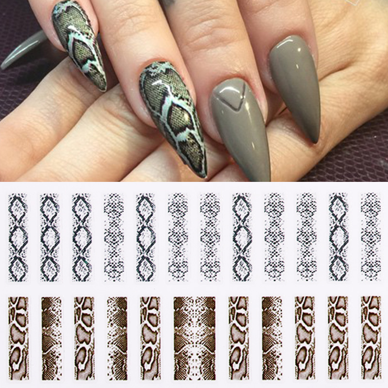1 Sheet 3D Nail Stickers Leopard Grain Series Mixed Patterns Nail Decals Beautiful Transfer Sticker Nail Art DIY Decoration