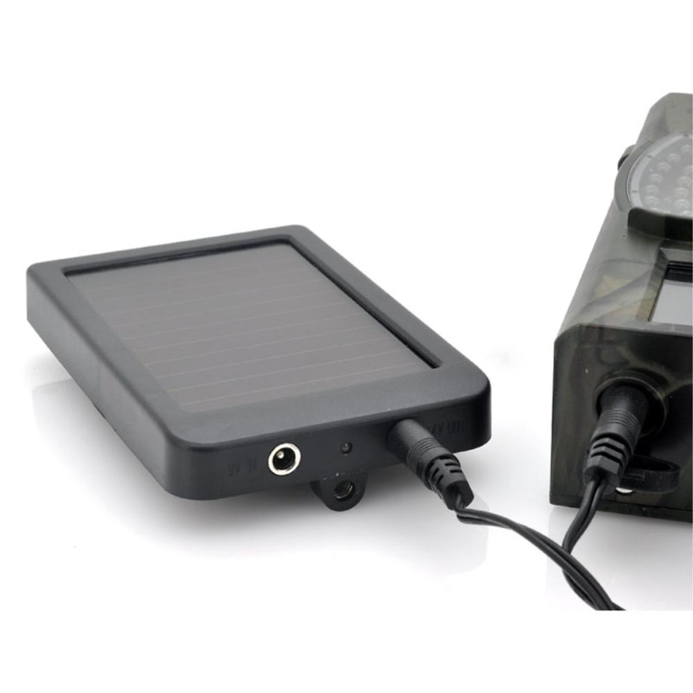 Outdoor Solar Panel Charger US/EU Plug Hunting Trail Camera Charger for <font><b>Suntek</b></font> HC-300M HC300 HC550M HC350M <font><b>HC700G</b></font> Hunting Camera image