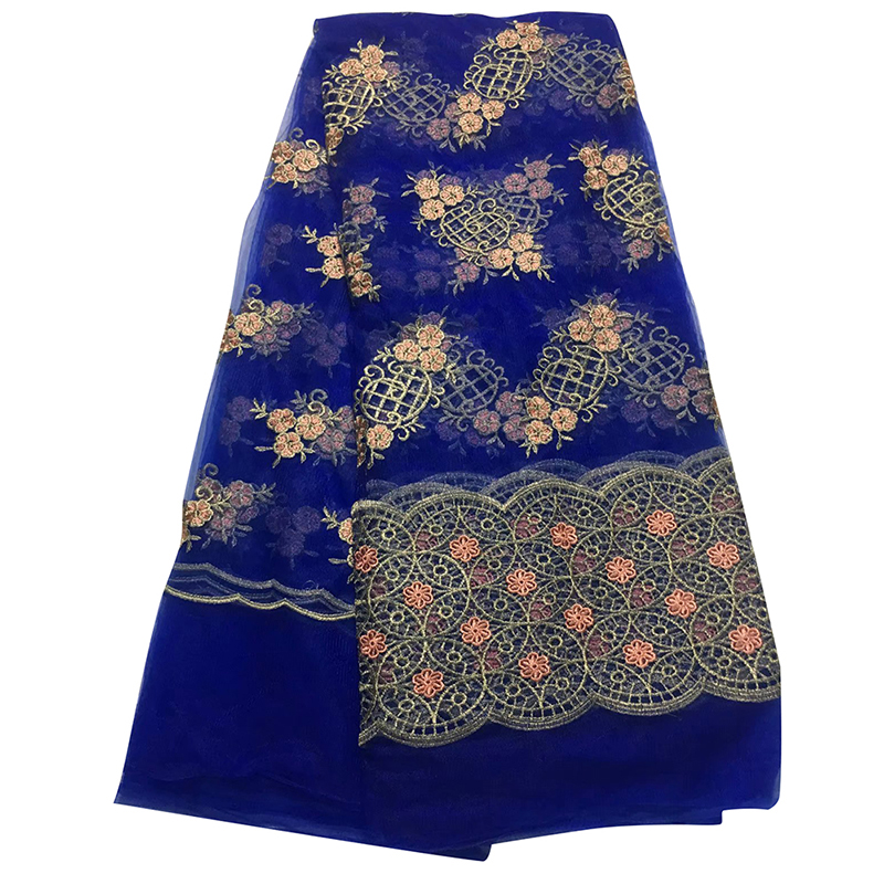 African Tulle Lace Fabric 2020 High Quality Nigerian Embroidery Swiss Voile Lace Tissu Fabric For Women Dress Robe De Soiree