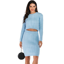 NORMOV Casual woman Knitted sweaters Suit Feminine Sexy Solid Sweater pants Autumn Winter charm Women clothing
