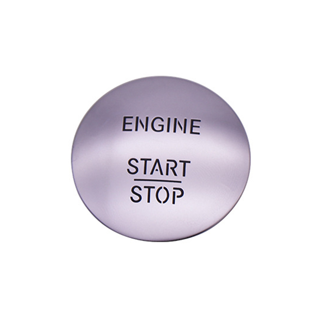 Car Keyless Start Stop One Button Start Button Switch Ignition Button Protection Cover for Mercedes