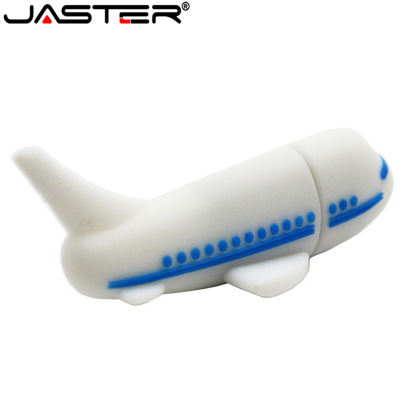 JASTER USB 2.0 Flash Drive Plane Model Pen Drive Aircraft Airplane Thumbdrive 64GB 8GB 16GB 32GB 128GB USB Flash Drive Pendrive