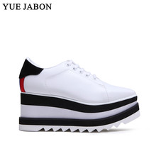 Women Sneakers Platform-Shoes Trainers Comfortable Black White Ladies New-Fashion Casual