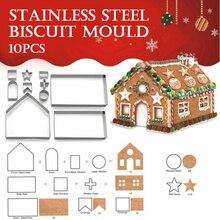 Специальная Рождественская елка 3D пряничный домик формочка для печенья нержавеющая Праздничная Новогодняя Кухня Аксессуары Инструменты для выпечки