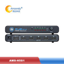 5 in 1 out hdmi-comparible Adapter LED display video switcher 5 Port Full HD1080P switch switcher 4K 3D mini switch
