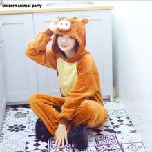 Kigurumi halloween Christmas men women Cosplay wild boar Onesies Party Pajamas Pyjamas Homewear costumes carnival costume