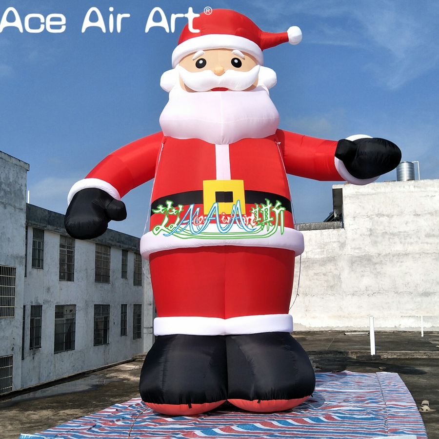 Outdoor Giant Christmas Inflatable adornment 6 m Tall Animated airblown Santa Claus|clause| |  - title=