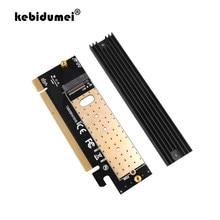 Kebidumei m.2 nvme ssd adaptador m2 para pcie 3.0 x16 controlador cartão m interface chave suporte pci express 3.0x4 2230-2280 tamanho