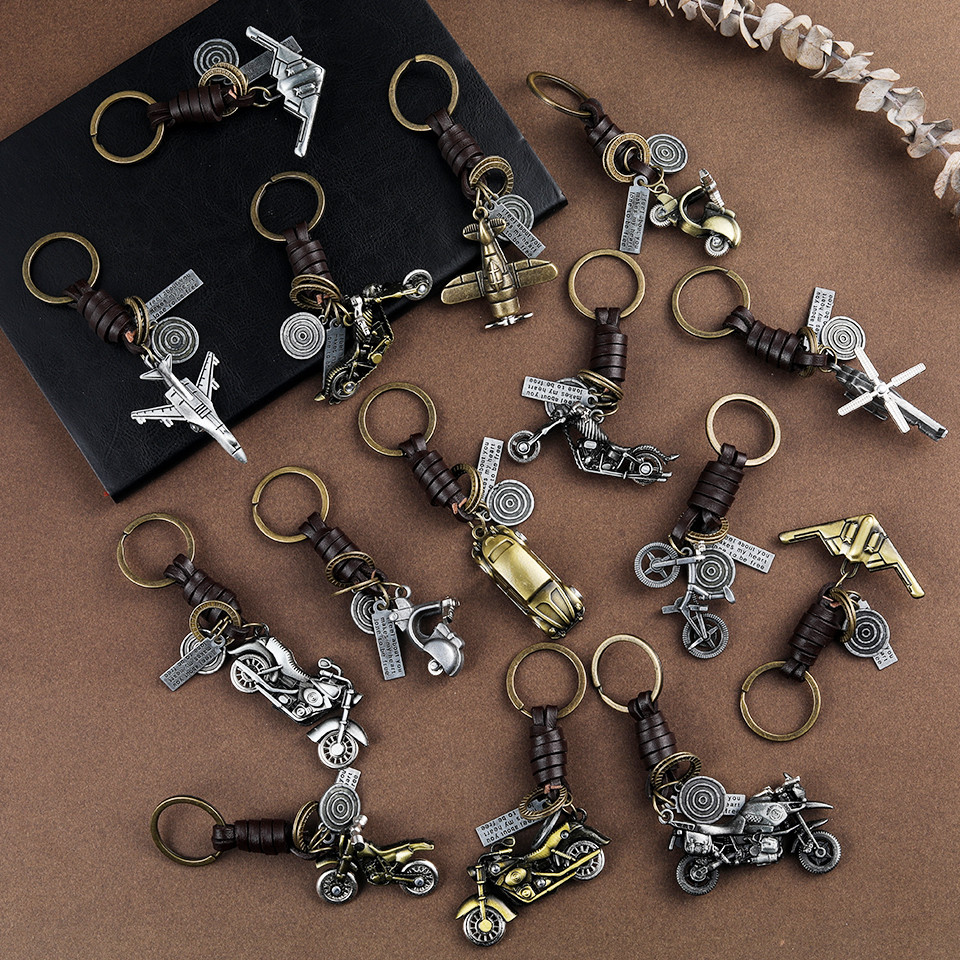 Trendy Car Key Chain Keychains Gifts For Women Men Accessories Keyholder Key-rings Bicycle Fighter Keys Pendant Chains Key Ring
