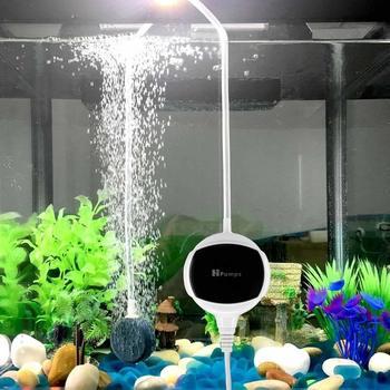 110-240V Aquarium Air Pump Ultra Silent Fish Tank Oxygen Air Pumps with Air Bubble Stone & Accessories 1