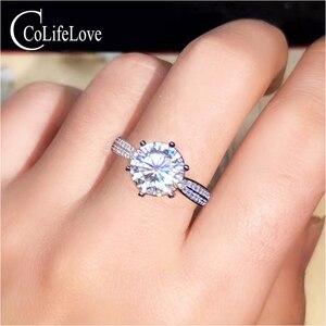 Ювелирные изделия CoLife Moissanite обручальное кольцо 1ct 2ct 3ct D Цвет VVS1 ранг Mossanite серебряное кольцо 925 серебро Moissanite ювелирные изделия