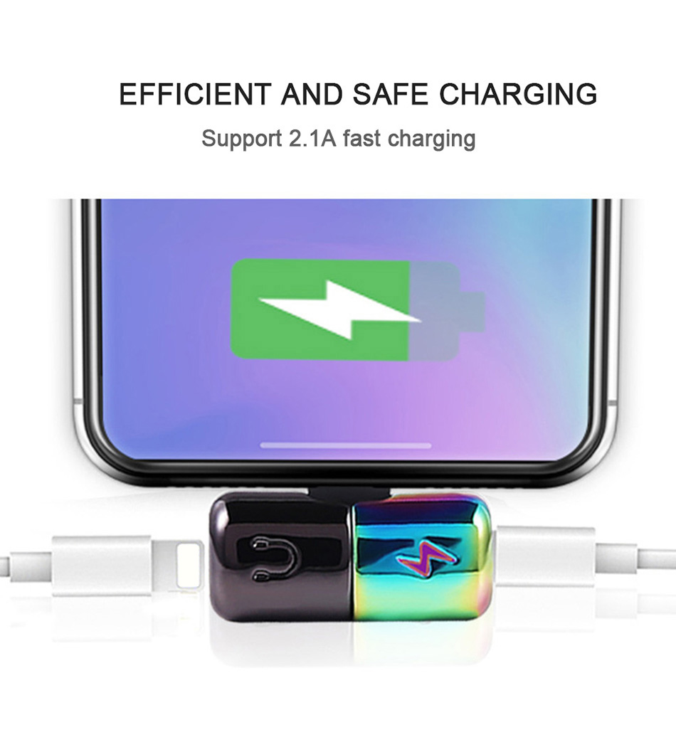 !ACCEZZ Mini Adapter For iphone X 8 7 Plus XS Max XR Headphone Adaptador For iphone Single Jack Charge Call Listen AUX Splitter (6)