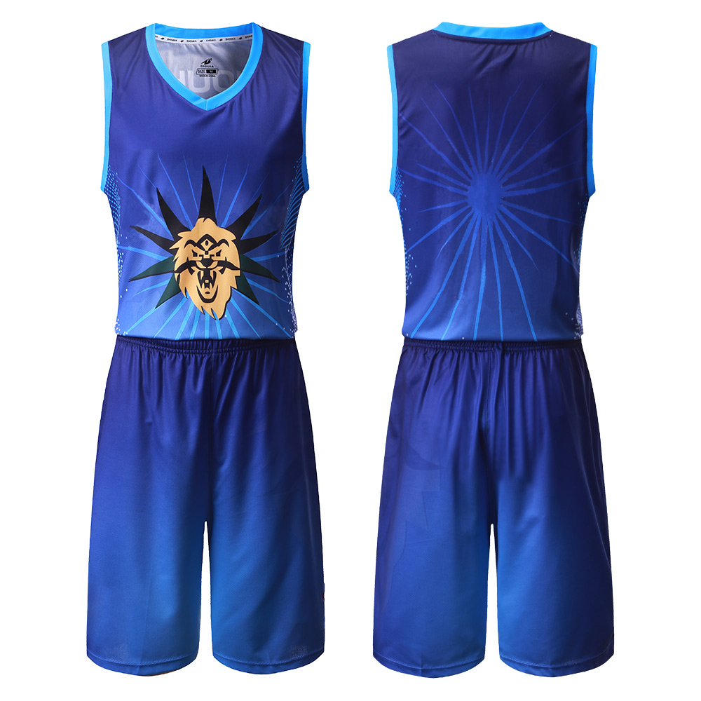 2020 Sublimation Reversible Basketball Uniforms <font><b>Men'S</b></font> <font><b>Suit</b></font> Tracksuit <font><b>Short</b></font> Sleeve <font><b>Shorts</b></font> Two-Piece Basketball Shirt image