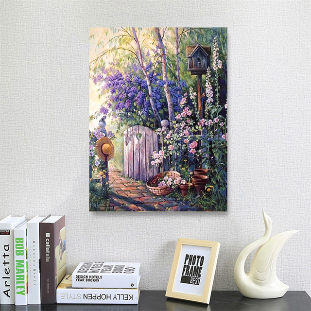 HUACAN Diamond Painting Landscape Cross Stitch Diamond Embroidery Full Set Scenery Beaded Painting Diamond Art Home