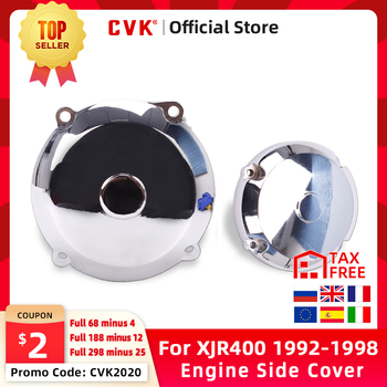 CVK Motorcycle left And right Engine Cover Motor Stator Cover CrankCase Side Cover Shell For YAMAHA XJR400 JXR 400 1992-1997 motorcycle parts engine stator cover for suzuki 2004 gsxr600 750 gsxr1000 black left side