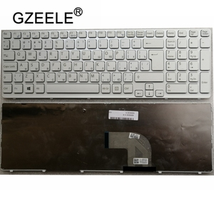 Клавиатура GZEELE с рамкой, белая русская клавиатура с рамкой для SONY VAIO E15 SVE 15 SVE15 149032851RU AEHK57002303A