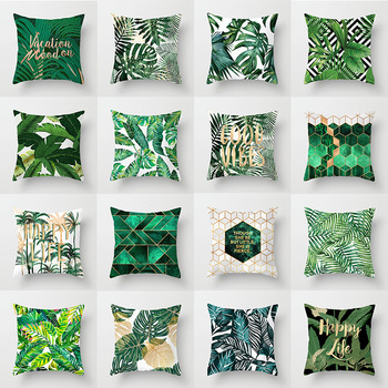 Tropical Plant Green Pillowcase Bedroom Departments Living Room Pillowcases Rooms