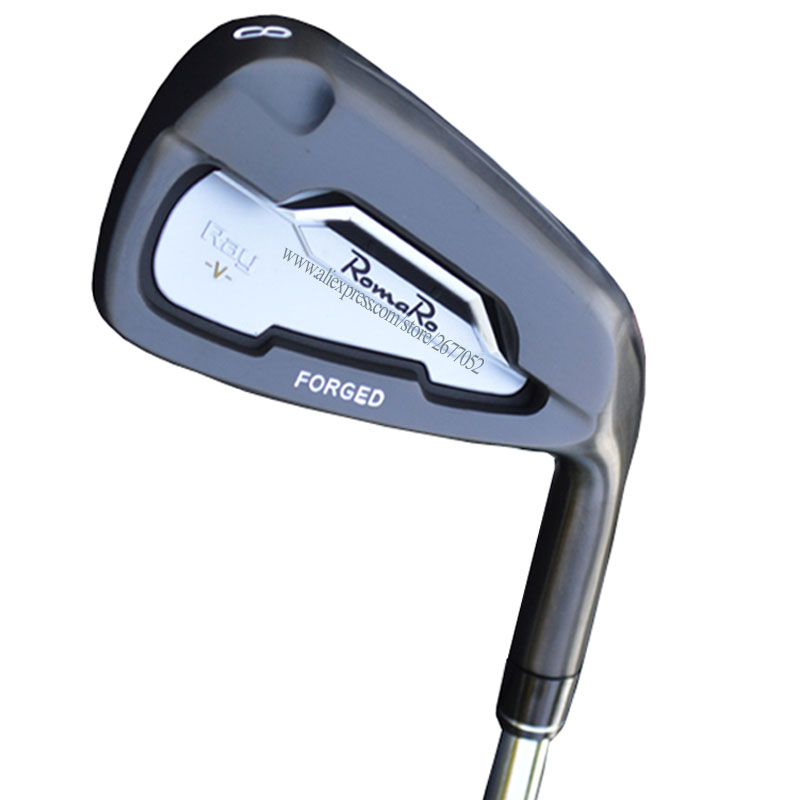 Mew Black Golf Clubs RomaRo Ray V Golf Irons 4-9P Irons Clubs Steel Shaft R Or S Flex Golf Shaft Cooyute Free Shipping