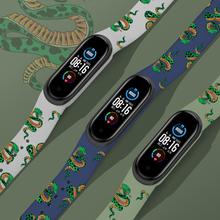Pasek Cartoon dla Xiaomi Mi Band 4 5 3 silikonowy inteligentny nadgarstek Bracelete Miband 5 4 dla Xiaomi mi band 3 4 Miband 5 pasek na rękę tanie tanio KINGZALIN CN (pochodzenie) Pasek na nadgarstek