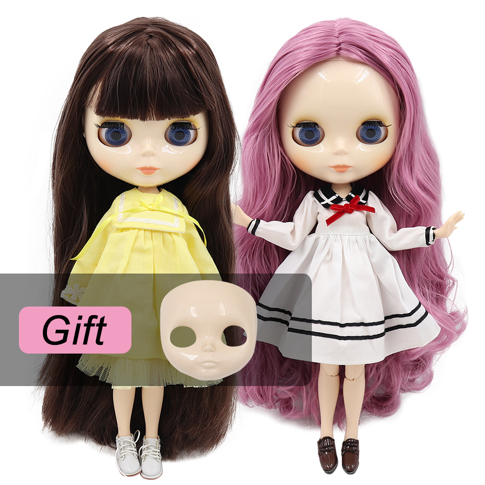 ICY factory blyth doll bjd toy joint body white skin shiny face doll 1/6 30cm girl gift on sale special offerDolls   -
