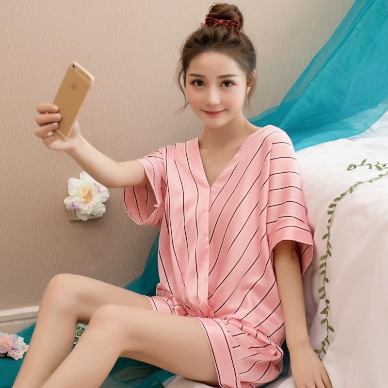 2020 Summer New Fashion Pajama Sets Luxury Silk Good Quality Short Sleeve Trousers Pyjamas Sexy Cool Pijama Night Sleepwear