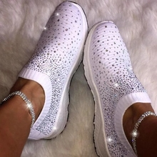 Women shoes Sneakers Shiny Sock shoes wo