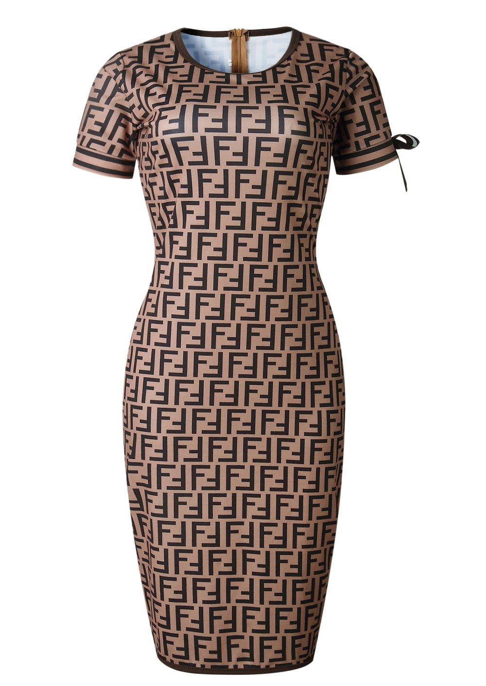 New European And American-Style Fashion Digital Printed Commuter Dress