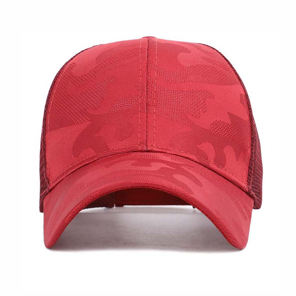 Apparel - Sunshade Baseball Cap, Breathable Cotton Ponytail Hat, Outdoor Sports Wear With Adjustable Back Closure