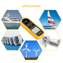 Digital Anemometer Air-Velocity-Temperature-Measuring Wind-Speed Mini LCD with Backlight