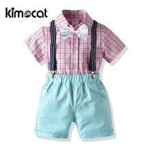 Kimocat Outfits Toddler Baby Boy Clothes Short Sleeve Summer Children Shirt Baby Boys Suit Kids Clothes Boys Clothing Set children s suit baby boy clothes set cotton long sleeve sets for newborn baby boys outfits baby girl clothing kids suits pajamas